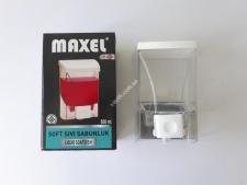 Дозатор для рiдкого мила  500мл  Maxel new Y-028 прозорий (30шт)