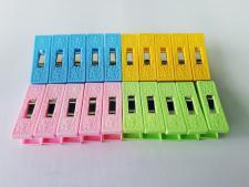 Прищепки пластм из 20-ти 6,3см VT6-19991(96шт)