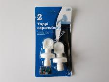 Пробка пластм для бутылок в наборе из 2-х 7см VT6-20001(360шт)