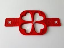Форма силіконова для оладок (4порцій) О15 * з ручкой 32см  Серце VT6-20025(300шт)