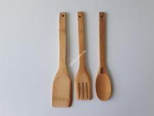 Набор деревянный из 3-х (ложка+2лопатка)29см VT6-20146(240шт)