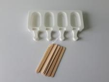 Форма силікон. для морозива з 4-х (4*7см) 12*21см VT6-20172(100шт)