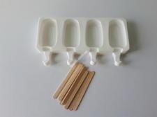 Форма силікон. для морозива з 4-х (5*9см) 15*26см VT6-20173(100шт)