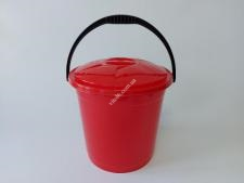 Відро  R-plast  кольорове з кришкою 10л  (10 шт)