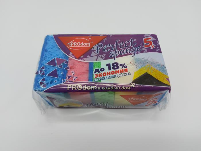 Губки кухоннi  Perfect spong   5шт PRO Dom  00540  19898  (80шт)