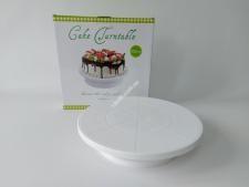 Стійка пластм для торта з обертанням 32см VT6-20277(24шт)