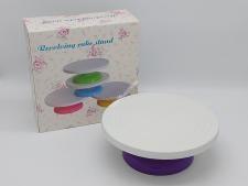 Стійка пластм для торта з обертанням 26*11см  VT6-20306(12шт)